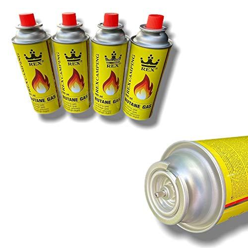 8x 227g Gaskartuschen für Gaskocher   Campingkocher MSF-1a Gaskartusche   Butangaskartuschen für Gasheizung, Gasbrenner oder Unkrautvernichter - mit Bajonettverschluss
