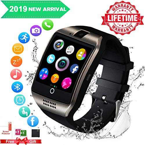 Smartwatch,Bluetooth Smart Watch con Camera Orologio Intelligente Orologio Cellulare Impermeabile con SIM Card Slot Per Android IOS Huawei Samsung Phone X XS XR 8 7 6 5s Plus S9 S8 S7 Uomo Donna