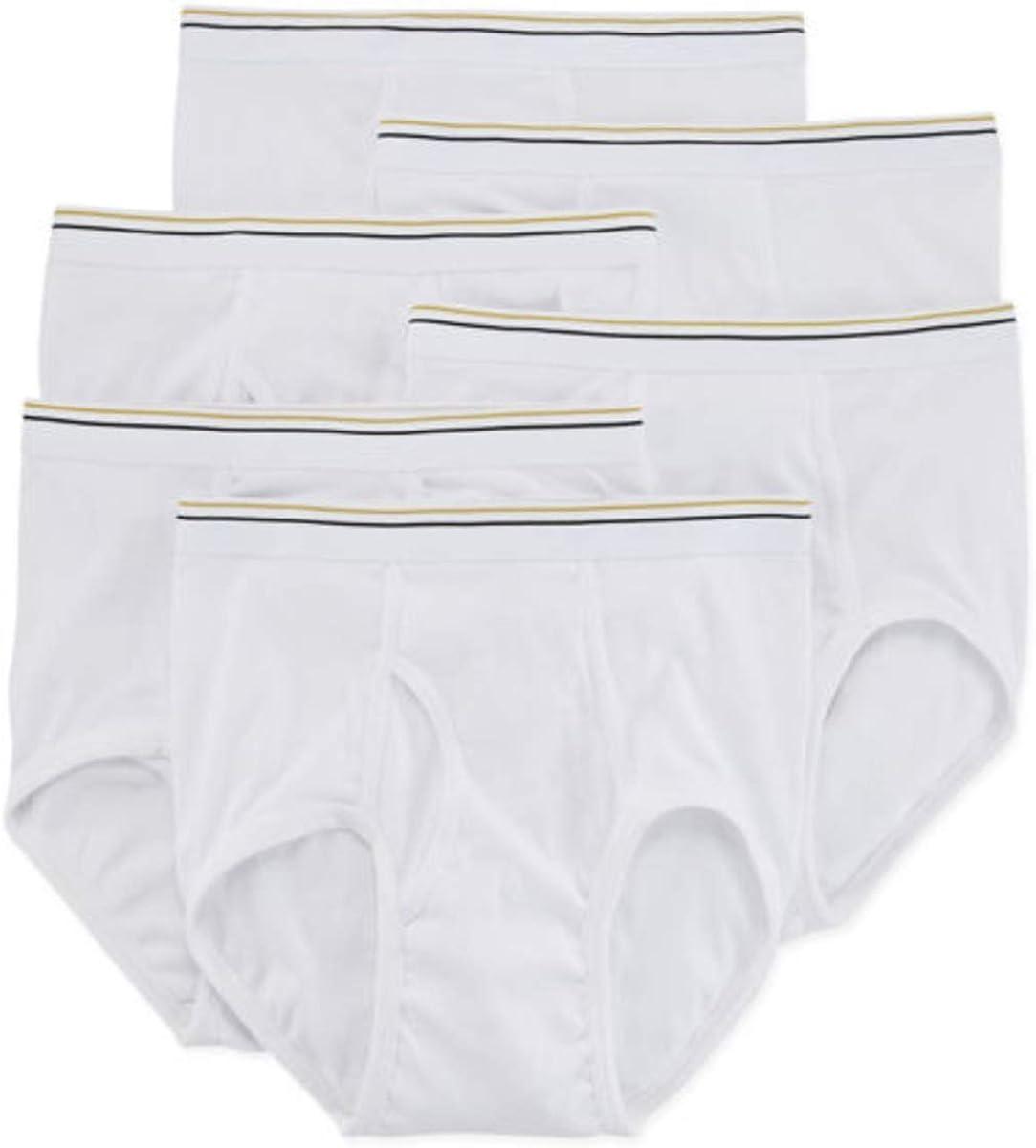 Stafford 6 Pack 100% Cotton Full-Cut Briefs Big & Tall