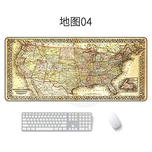 Kartenmausunterlage große wasserdichte Mausunterlagenkarte 04 400 * 900 * 2mm