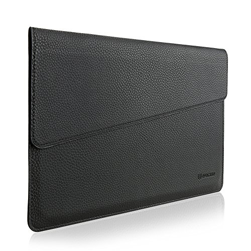 "MacBook 12 Sleeve, Evecase Sottile in Pelle Premium Custodia Portatile per 2015 Nuovo MacBook 12"" con Retina Display - Nero"
