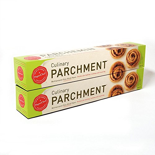PaperChef Natural Release Coated Non-Stick Culinary Parchment Paper, (2) 205 sq ft rolls (15 in x 164 ft)