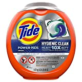 Tide Hygienic Clean Heavy 10x Duty Power PODS Laundry Detergent Pacs, Original, 41 count, For Visible and Invisible Dirt