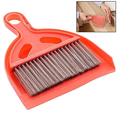 Ruluti 1 Set Mini Dustpan Whisk Brooms Multifunctional Space Saving Tool for Desk Table Top Keyboard Netbook Handy Cleaner