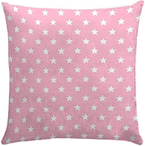 Martina Home Candy Star Funda de Cojín, Tela, Rosa, 50 x 50 cm
