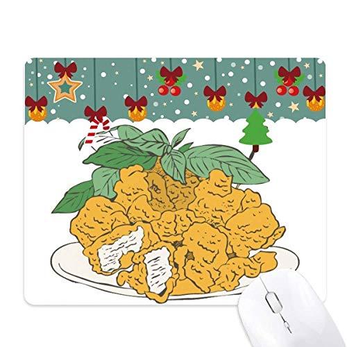 Snake voedsel gebakken kip stukjes muis Pad spel Office Mat Kerstmis Rubber Pad