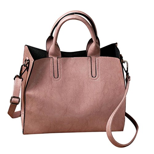 Crossbody Shoulder Bag,AfterSo Solid PU Leather Messenger Bags Satchel for Women Girls (32cm/12.59