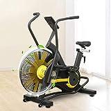 XHCP Cyclette con Ventola con Resistenza illimitata, Bicicletta stazionaria per Bici da Ciclismo per Interni, Sella Regolabile, Display LCD, Bici da Fitness per Macchine Cardio