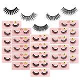 MAGEFY Fake Eyelashes 30 pairs,5 Style Faux Mink Lashes,Natural Fluffy False Eye Lashes Pack for Women