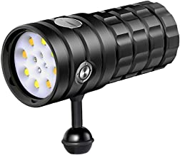 New LED Diving Flashlight 8 XHP50 25000 Lumens Underwater 100m Waterproof Photography Tactical Diving Light Camera Video T...