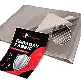 Atmosure 1 Yard Copper Faraday Fabric (44' x 36') — EMF Blocker & EMP Protection from Cellular Signal, WiFi, Bluetooth, GPS — Faraday Cage Radiation Protection DIY Enclosure Wireless Shield