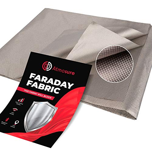 "Atmosure 1 Yard Copper Faraday Fabric (44"" x 36"") — EMF Blocker & EMP Protection from Cellular Signal, WiFi, Bluetooth, GPS — Faraday Cage Radiation Protection DIY Enclosure Wireless Shield"