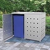 vidaXL Mülltonnenbox für 2 Tonnen 240 L Edelstahl