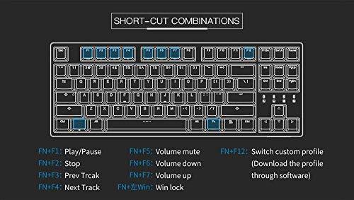 Durgod Taurus K320 TKL - Tastiera meccanica da gioco, 87 tasti, Double Shot PBT - NKRO - USB tipo C - ANSI US (Cherry Brown, Spazio grigio)