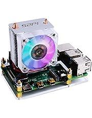 GeeekPi Raspberry PiファンICEタワーCPU冷却ファンICEタワーファンRaspberry Pi 4モデルBおよびRaspberry Pi 3B +およびRaspberry Pi 3モデルB(シルバー)