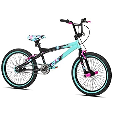 "Capture Girls Attention with Soft and Sturdy Kent 20"" Tempest Girls Bike,Features Front and Rear Hand Brakes Plus Front and Rear Pegs,Safe and Comfortable Gift Choice for Kids,Black/Green by"