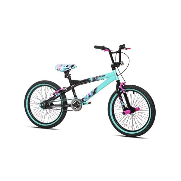 """Capture Girls Attention with Soft and Sturdy Kent 20"""" Tempest Girls Bike,Features Front and Rear Hand Brakes Plus Front and Rear Pegs,Safe and Comfortable Gift Choice for Kids,Black/Green -"""