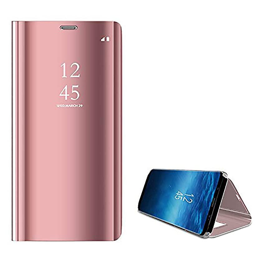 Galaxy S9 Plus case Translucent Flip 360 Full Body Slim Hard Mirror Stand Kickstand Cover for Samsung Galaxy S9 Plus