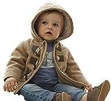 MissChild Abrigo de Capucha Bebé otoño Invierno, Chaqueta Ropa Manga Larga Acolchado Outerwear para Niños Marrón Label 100