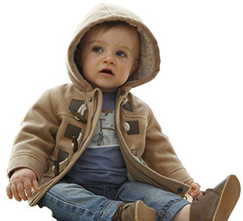 MissChild Abrigo de Capucha Bebé otoño Invierno, Chaqueta Ropa Manga Larga Acolchado Outerwear para Niños