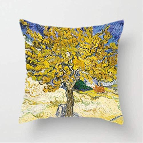 Hope Fodera per Cuscino Van Gogh Pittura A Olio Divano Cuscino Decorativo per La Casa Cuscino Girasole Autoritratto Stampa Cielo Stellato Federa 45x45cm X