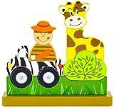 Ulysse Couleurs d'Enfance 59702 - Puzle magnético, diseño Zoo