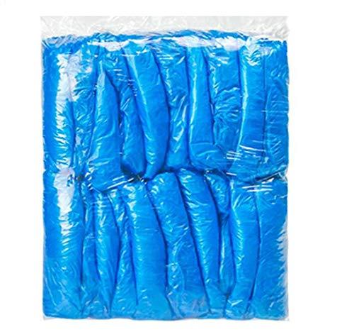 XGHW Wegwerp Overmouwen, tattoo mouwen, PE manchet protector met elastische band grootte: 40 cm in (300, blauw/wit) Voor schilderen, repareren, reinigen, tatoeëren, douchen