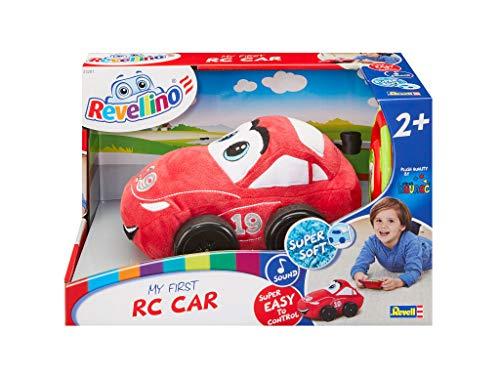 Revell Revellino 23201 Mein erstes RC-Rennauto mit 40MHz Fernsteuerung ferngesteuertes Auto aus Plüsch, zum Spielen und Kuscheln, Rot