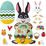 Showlovein 28 + 1 coniglietto pasquale in feltro, regalo pasquale per bambini, decorazione pasquale, da appendere