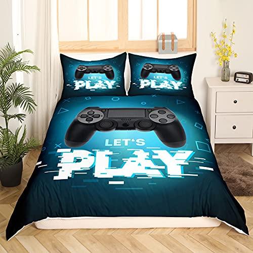 Teens Games - Juego de ropa de cama, funda nórdica de 135 x 200 cm, para niños, niñas, jóvenes,...