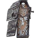 FXQ Ataúd de Calavera de Halloween - 1.6 M Cadena de Espuma de simulación Decorativa Gran ataúd de Calavera Ataúd de Tumba ósea - para la casa embrujada Decoración Bar KTV Sala de Fiestas de Escape