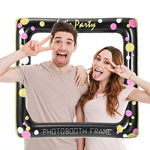 LUOEM Marco de Selfie inflable Photo Props Selfie Picture Photobooth Frame para cumpleaños boda nupcial ducha Baby Shower Summer Pool Party Supply