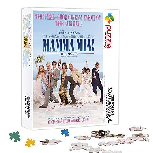 KKASD Impossible Puzzle 500 Piezas Mamma MIA!Rompecabezas Juego de Rompecabezas de descompresión Juego Familiar, Presente de Rompecabezas 52x38cm