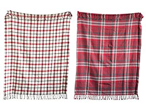 """Woven with soft cotton Machine wash warm with like colors Lay flat to dry 60""""L x 50""""W x . 25""""H"""