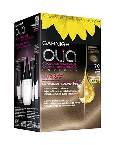 Garnier Olia coloración permanente sin amoniaco para un olor agradable con aceites florales de origen natural - Rubio Bronce 7.9