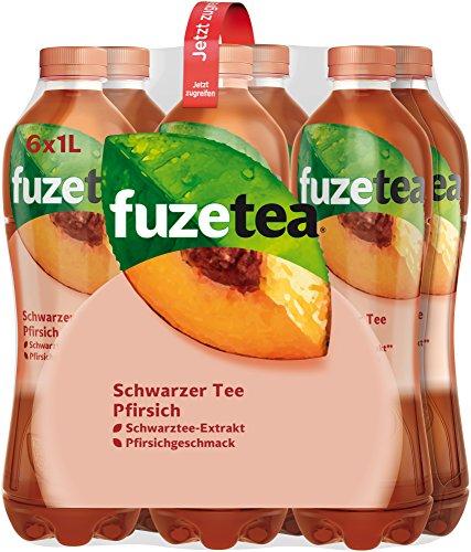 Fuze Tea Schwarzer Tee Pfirsich EINWEG, (6 x 1,0 l)