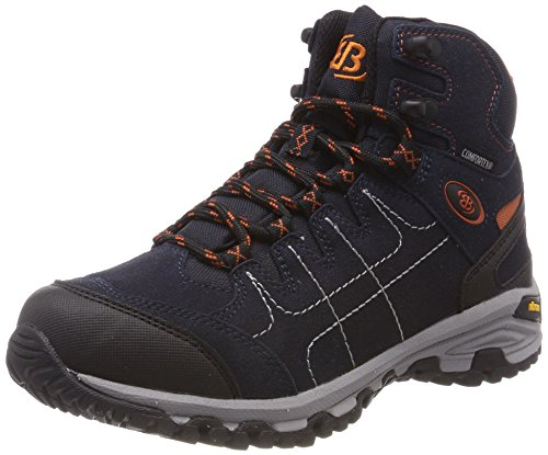 Brütting Unisex Mount Shasta High Trekking- & Wanderstiefel, Marine/Orange, 43 EU