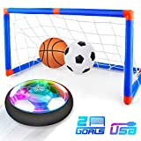 Baztoy Hover Football Goal Set, Kids Toys Rechargeable Air Power Soccer Ball Led