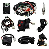 OTOHANS AUTOMOTIVE Complete Electrics Stator Coil CDI Wiring Harness with Full Copper Wire for 4-Stroke ATV QUAD 150cc-300cc