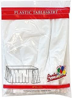 Plastic Table Skirt White 29