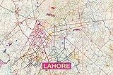 // TPCK // Lahore (Pakistan) künstlerische moderne Karte