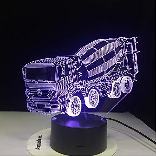 16 Colores Cambiantes Luz De Noche 3D Led Licuadora Mesa De Coche Lámpara De Escritorio Mesa De Noche Para Niños Mezclador De Sueño Camión Iluminaciones Regalos Decoración Control Remoto