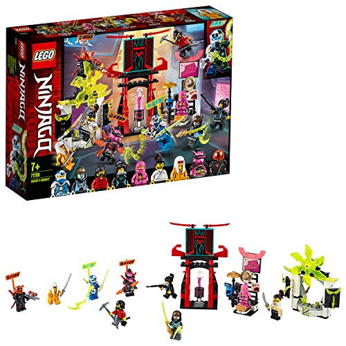 LEGO Ninjago - Mercado de Jugadores, Juguete de Construcción, Incluye 9 Minifiguras, Digi, Jay, Avatar Rosa de Zane y Avatar de Harumi, a Partir de 7 Años (71708) , color/modelo surtido