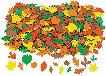 Fabulous Foam Fall Adhesive Leaf Shapes Crafts for Kids and Fun Home Activities product image