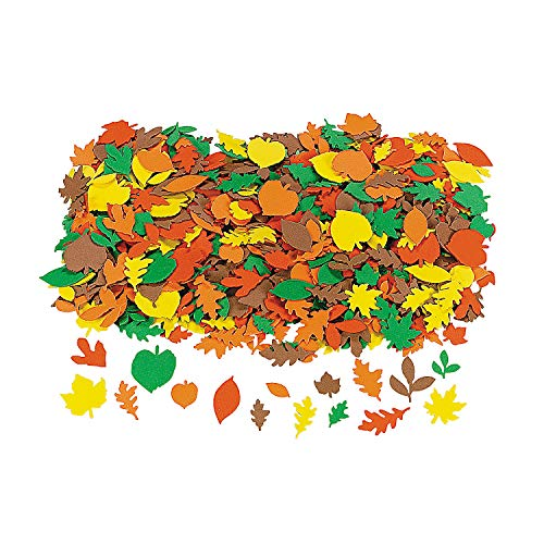 Fabulous Foam Fall Adhesive Leaf Shapes - Crafts for Kids and Fun Home Activities