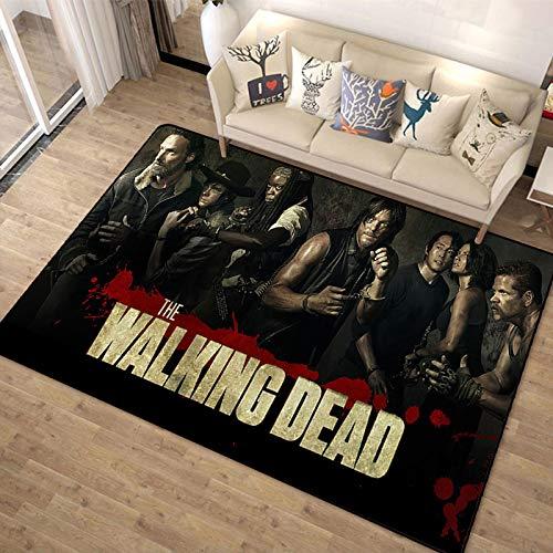Alfombra De Felpudo Walking Dead Alfombra Piso Dormitorio Sala De Estar Felpudo Exterior Alfombra Antideslizante Alfombra 160X230Cm