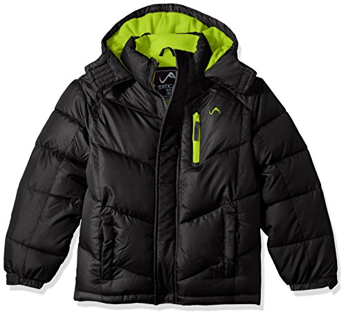 Vertical '9 Big Boys' Bubble Jacket (More Styles Available), V205-Black, 8