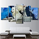 DEZYSDPLXD 5 Tafeln Wandkunst Gemälde HD-Druck 5