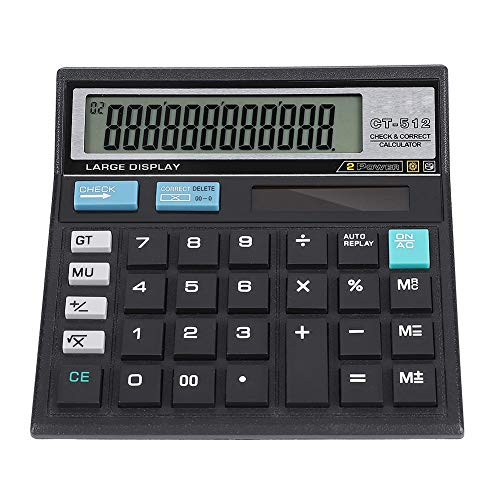 Solar Scientific Calculator, 12-bit Precise Data Solar Financial Calculator Groot scherm Solar Calculator van ABS Materiaal voor Office, Finance