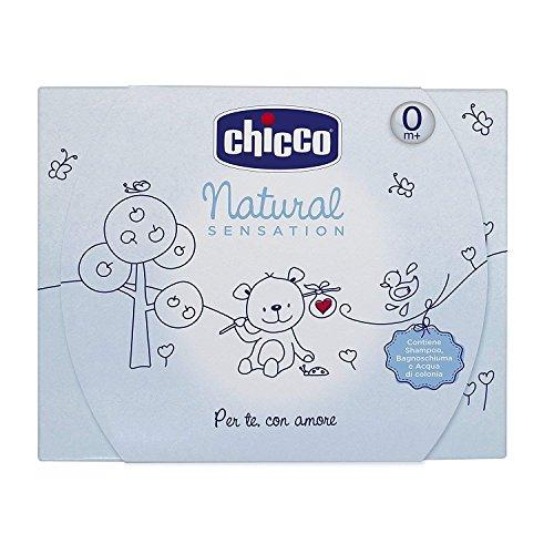 Chicco Shampoo, Duschgel, Wasser von Köln Natural Sensation, Big, Blau–500ml